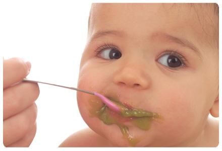 Baby met voedselallergie