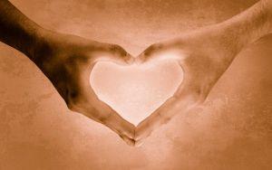 handen maken hartje