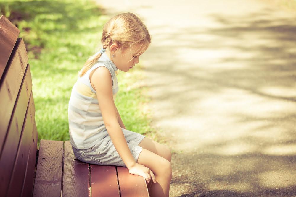 kind met een depressie