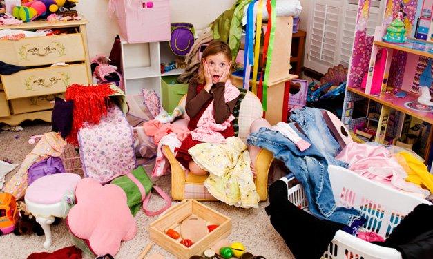 kinderen en opruimen