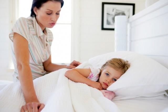 werkende moeder en ziek kind