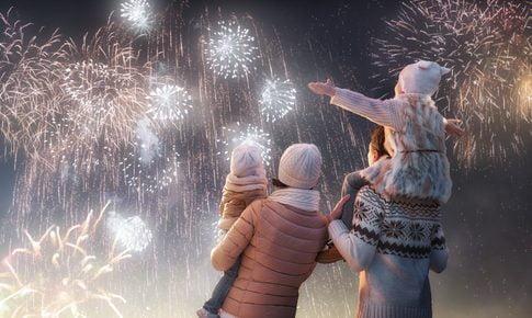 nieuw jaar met kinderen