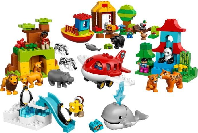 l_lego 10805 rond de wereld dieren 1
