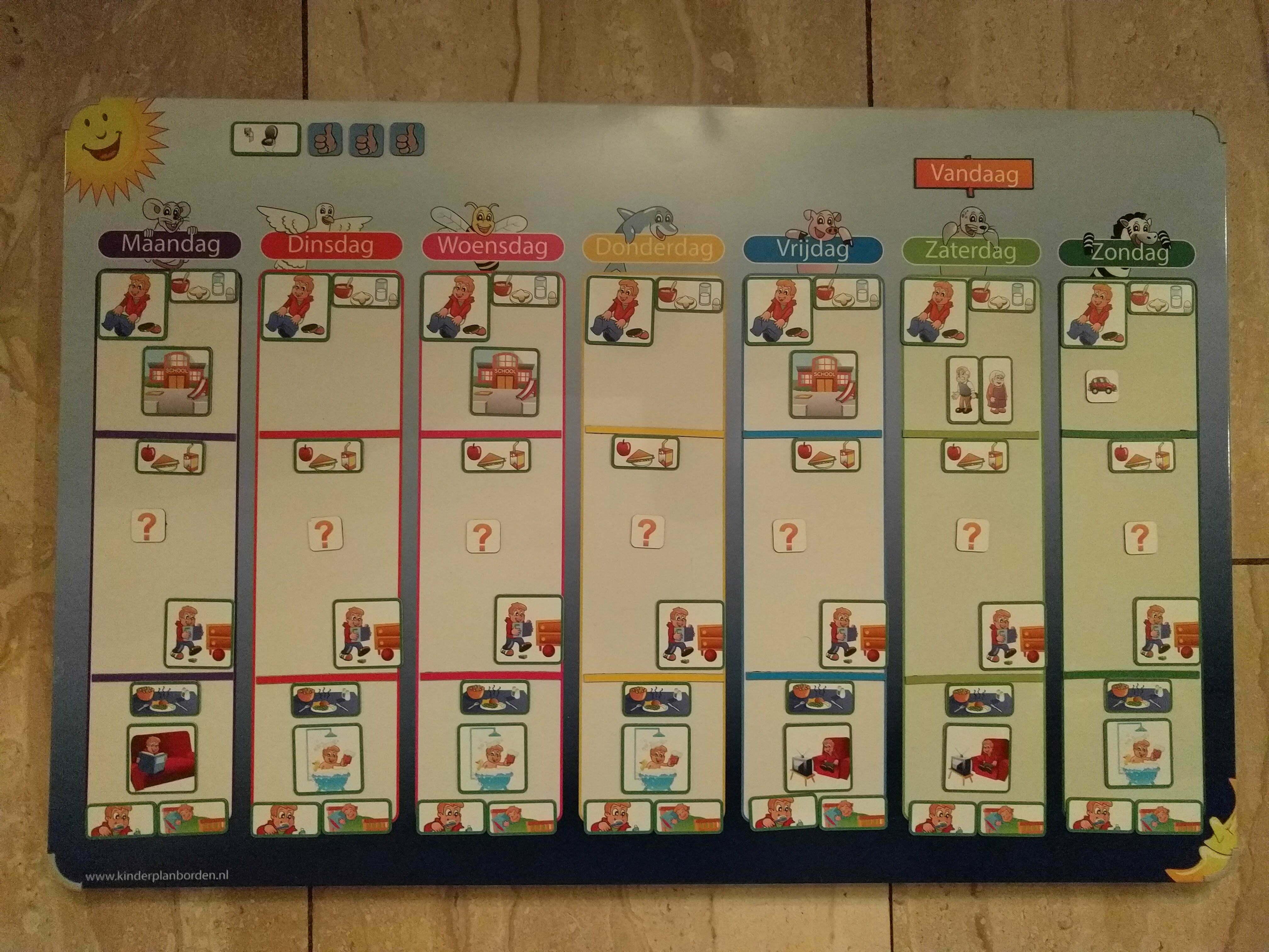 Top Planbord en dagritme kaarten, waarom en hoe te gebruiken - Moeders.nu DT18