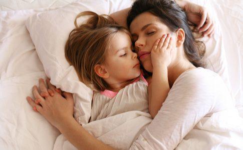 slapen met kind