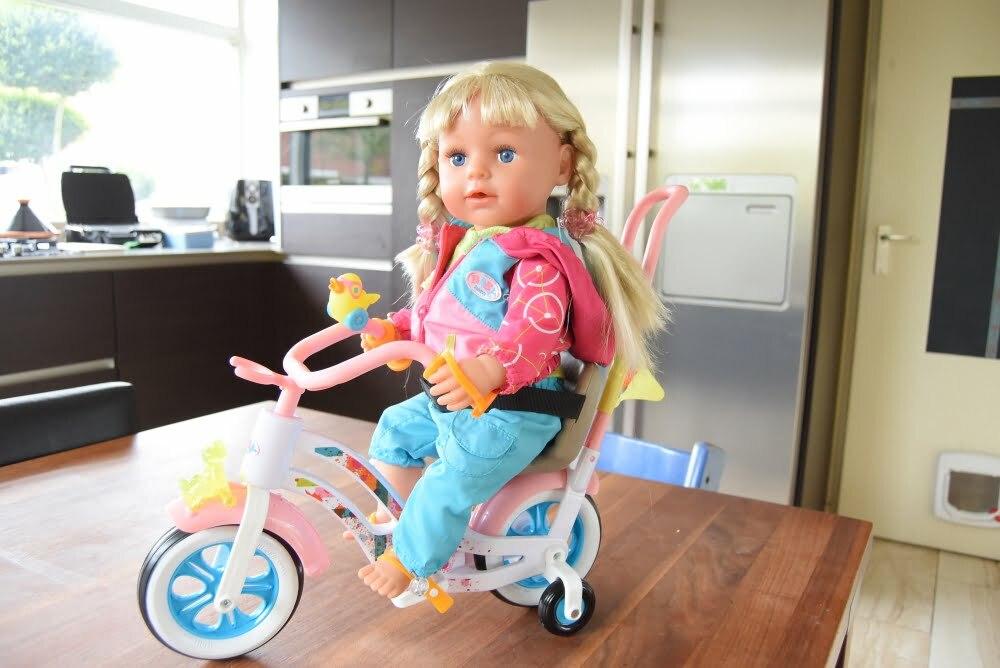 interactief zusje op fiets