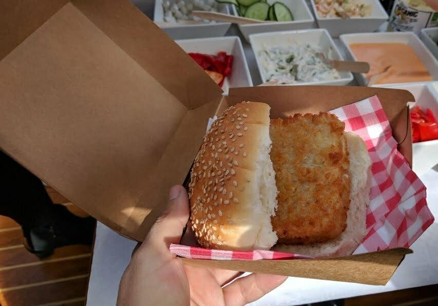 Fish Burger Kapitein Iglo
