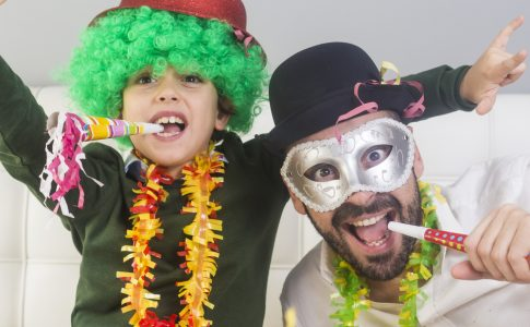 vader zoon kostuum carnaval