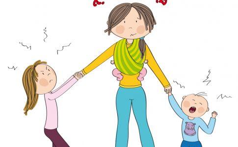 onzekere moeder