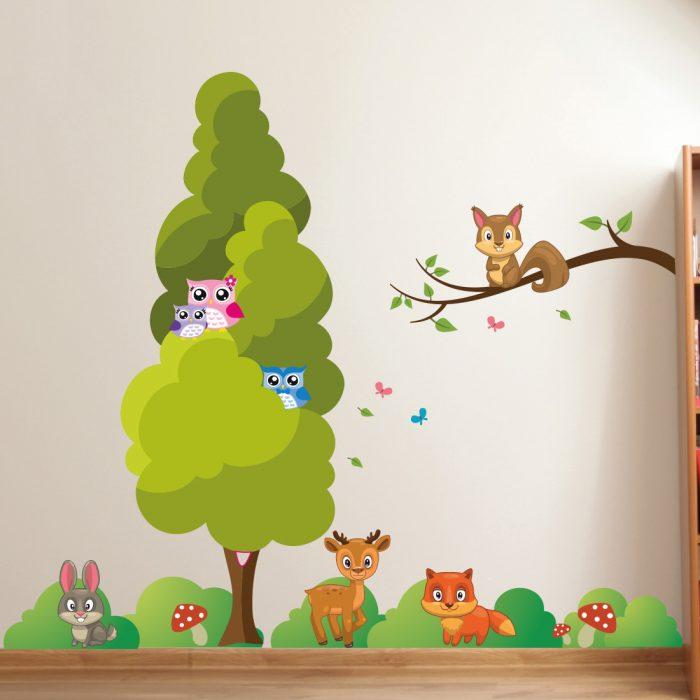 uilen-bomen-dieren-grassen-beren-muurstickers-set-kinderkamer-goedkoop-700x700