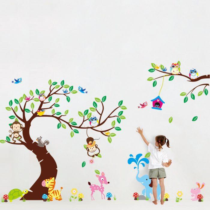 wilde-dieren-muursticker-kinderkamer-700x700