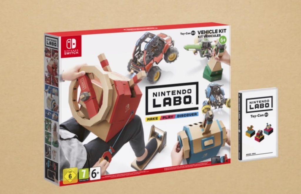 Nintendo labo voertuigenpakket