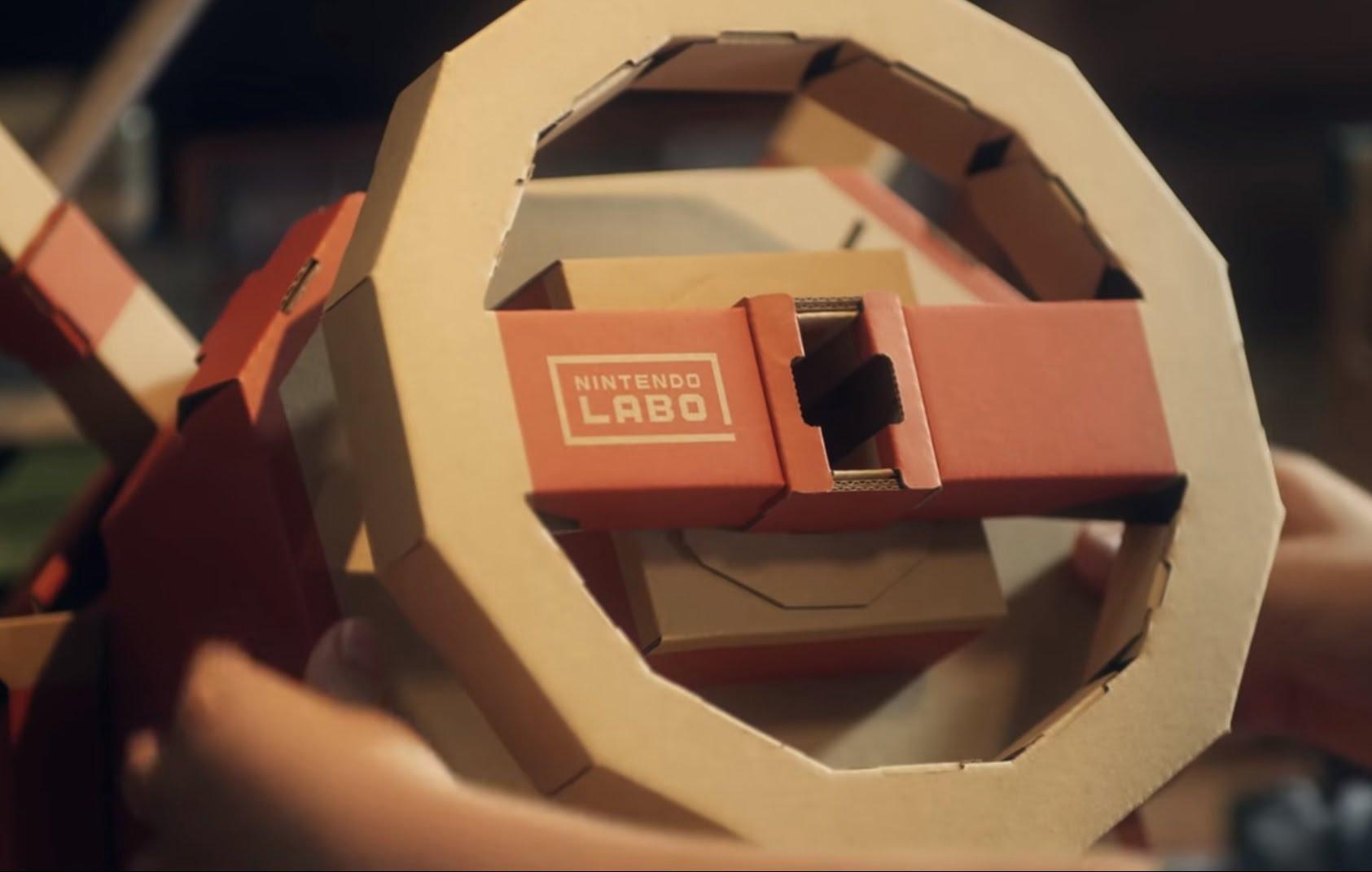 Stuur Nintendo Labo voertuigen