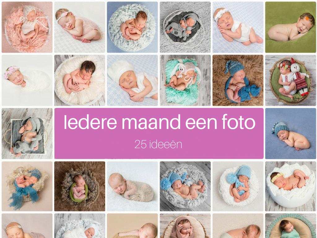 Iedere maand een baby foto