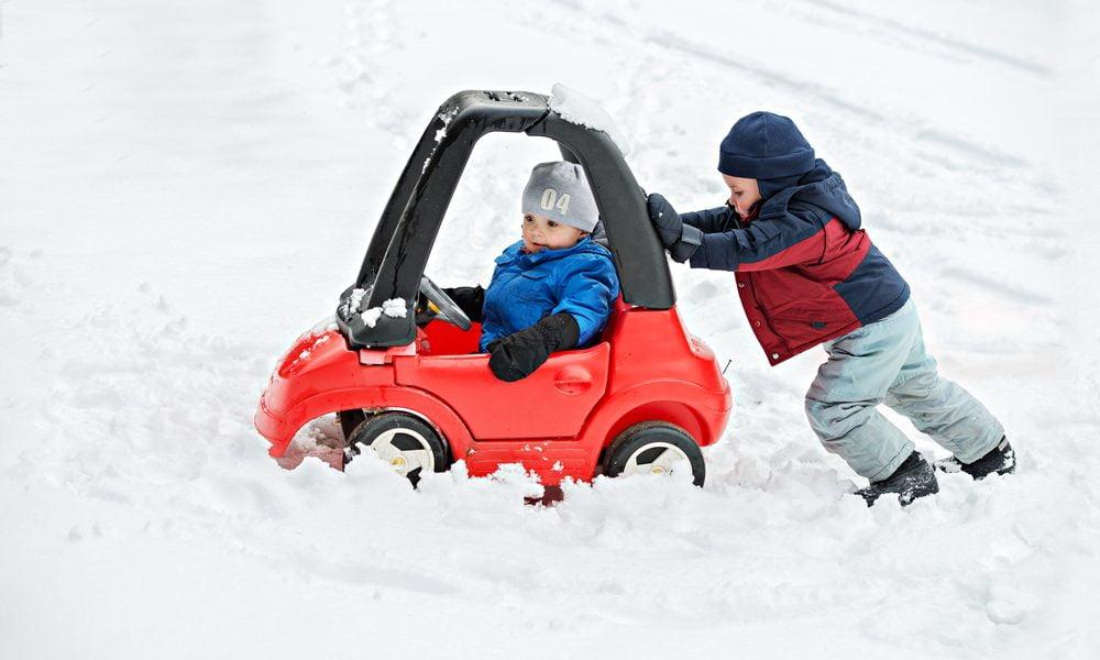 Autorijden met kinderen in de winter