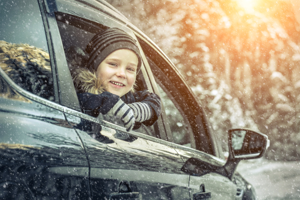 Autorijden met kinderen winter