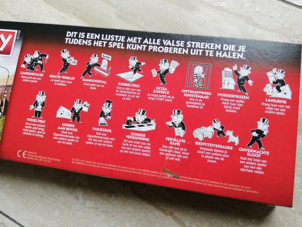 Valsspeel trucjes Monopoly