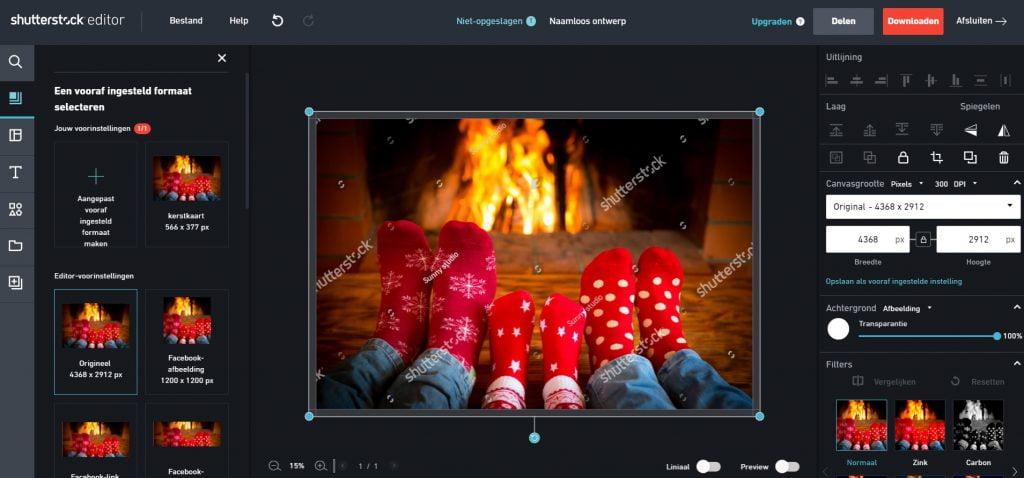 Online kerstkaart maken
