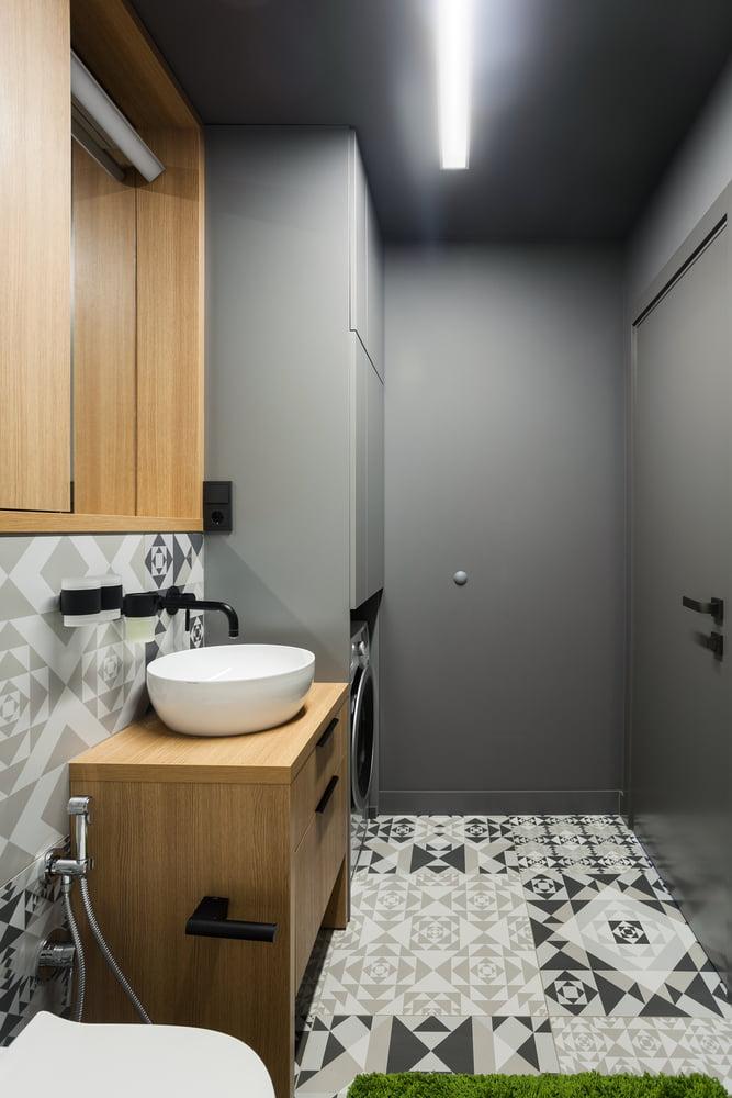 Houten badkamermeubelen
