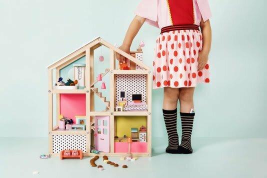 Houten poppenhuis HEMA