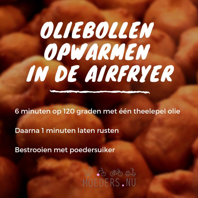 Oliebollen opwarmen In de airfryer