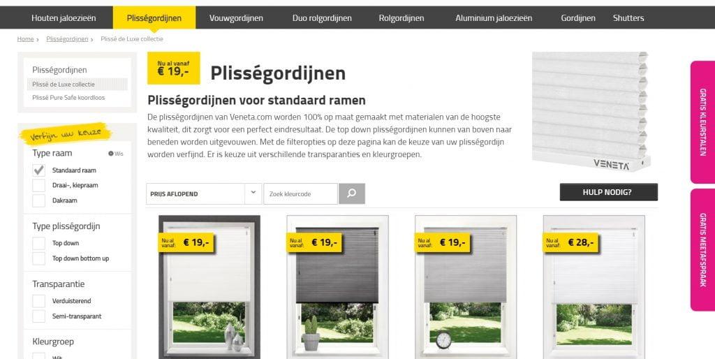 website veneta raamdecoratie