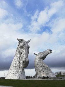 De Kelpies Schotland met kinderen