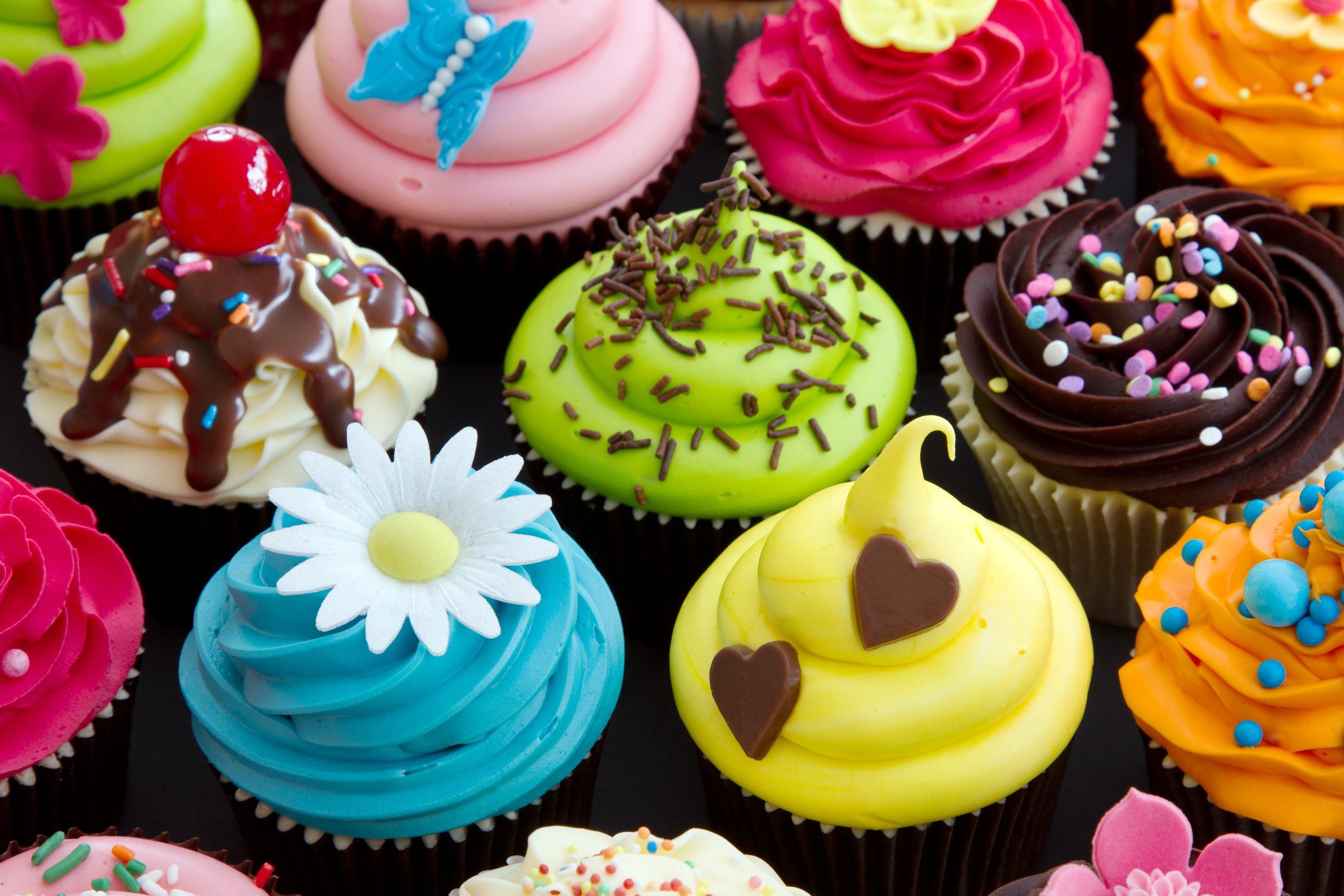 Cupcakes om uit te delen