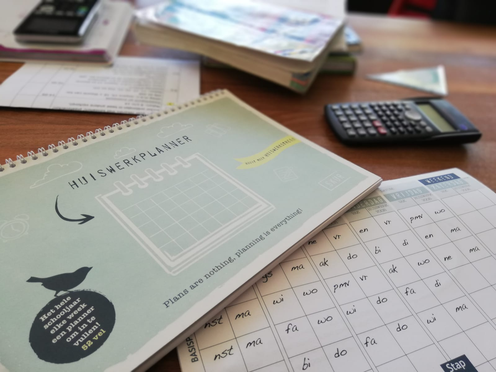 Skur huiswerkplanner